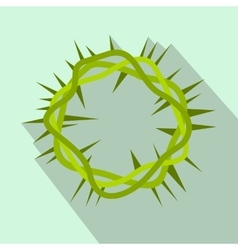 Crown of thorns flat icon vector image