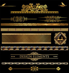 Design golden elements vector image