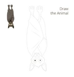 Draw the forest animal bat cartoon vector image
