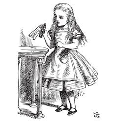 Drink me Alice vector
