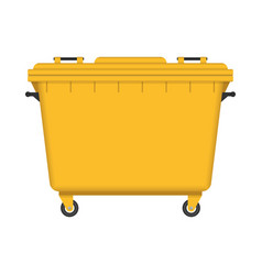 dumpster isolated on white background vector image