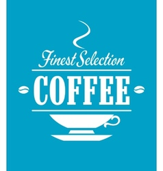 Finest selection coffee banner vector image