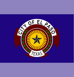 flag el paso in texas in united states vector image