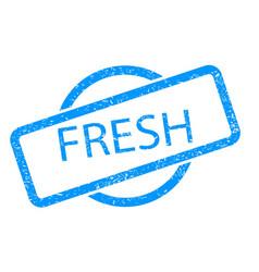 fresh stamp vector image
