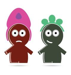 Funny people icon color vector