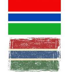 Gambia grunge flag vector
