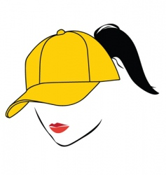 girl with cap vector image