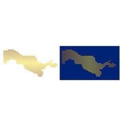 Golden dot uzbekistan map vector