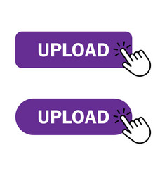 hand cursor clicks upload button vector image