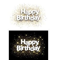 Happy birthday backgrounds vector image