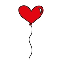 Heart balloon air icon vector