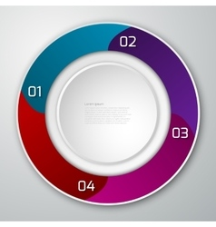 infographics circle vector image