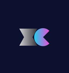 initial alphabet letter xc x c logo company icon vector image