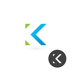letter k logo on white background vector image