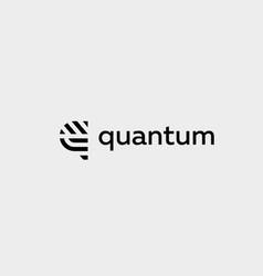 letter q line logo design creative vector image