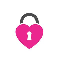 lock love logo icon vector image