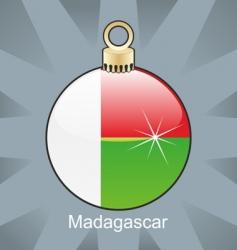 Madagascar flag on bulb vector image
