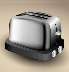 Metallic toaster vector image