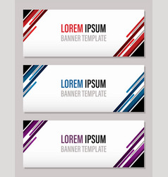 modern abstract banner template website banner vector image
