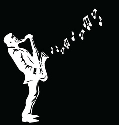 Musician playing the saxophone vector