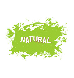 natural fresh vegan eco bio raw organic vector image