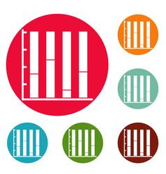 new chart icons circle set vector image