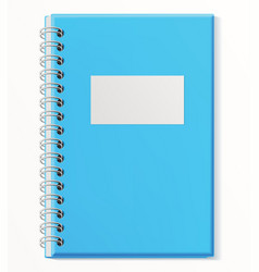 Notebook closed copybook with empty cover vector