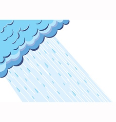 of raining cloud blue sky vector image