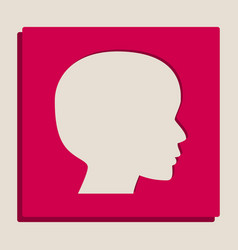 People head sign grayscale version of vector