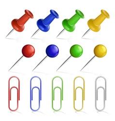 Pin set vector image