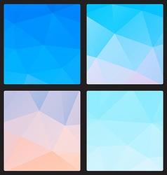 Polygon blue color vector