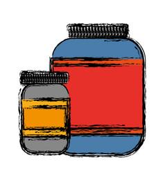 Protein supplement icon vector