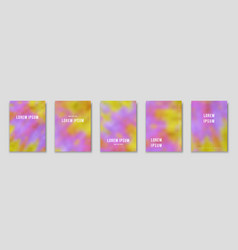 Psychedelic tie dye blurred backgrounds vector