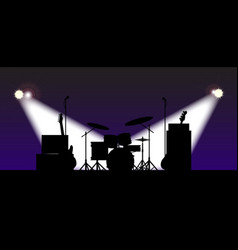 Rock band stage equipent vector