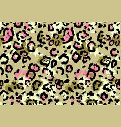 Seamless leopard fur pattern vector