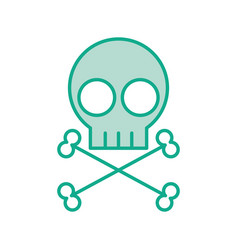 Skull danger sign icon vector