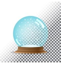 Snow globe Transparent background vector image