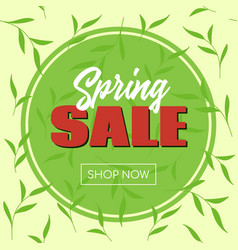 spring sale banner template for social media vector image
