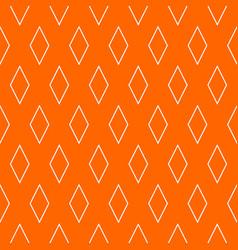 tile orange and white pattern vector image