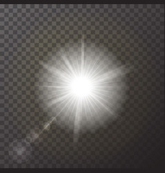 transparent white glowing light burst explosion is vector image