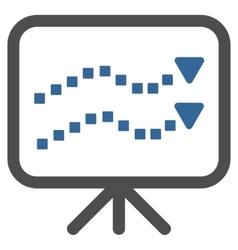 Trends Presentation Toolbar Icon vector