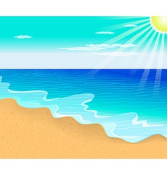 Tropical beach with vector image