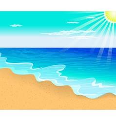 Tropical beach with vector