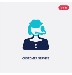 Two color customer service icon from concept vector