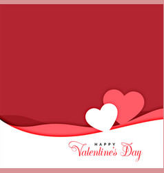 two hearts in papercut style valentines day vector image