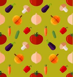 Vegetable seamless pattern vector
