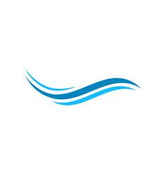 wave icon design template vector image
