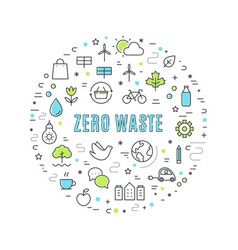 zero waste and resposible consumption vector image