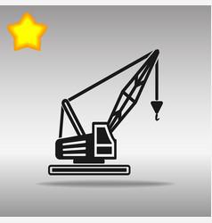Black crane icon button logo symbol concept high vector