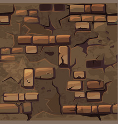 cartoon seamless pattern texture old brown vector image